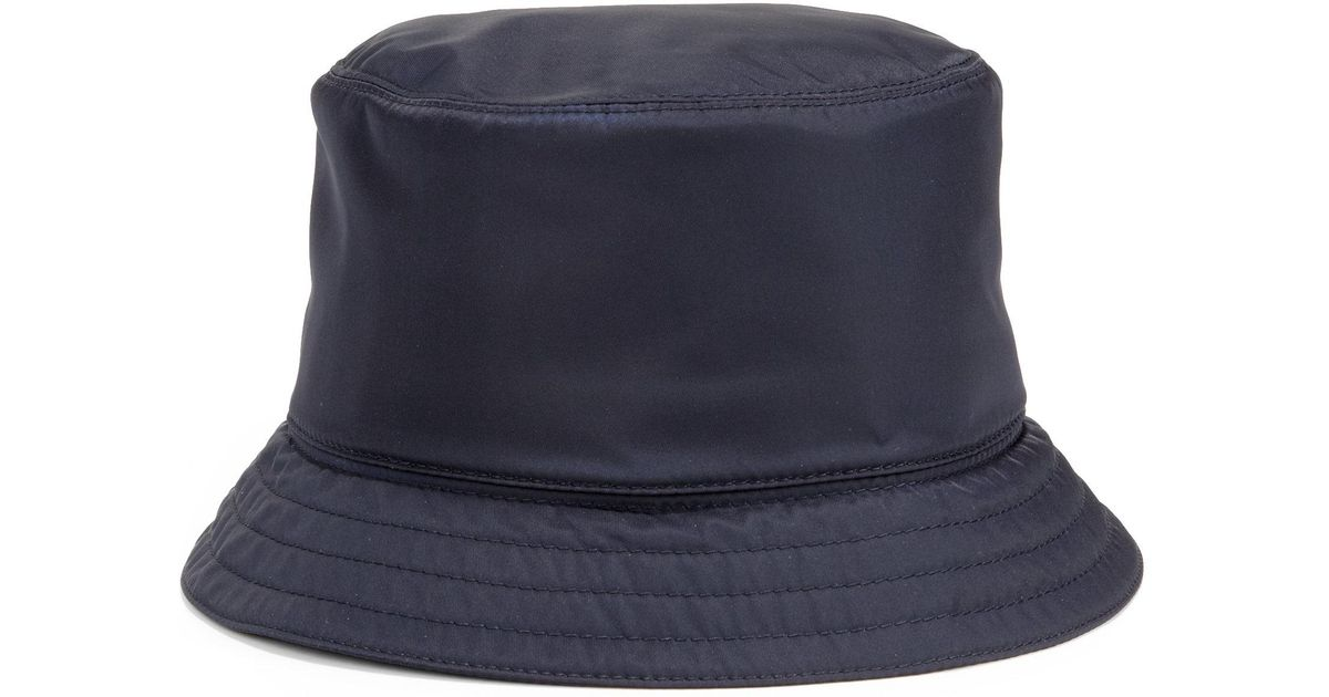 5a0bc1dc55b0 Prada Nylon Bucket Hat in Blue - Lyst