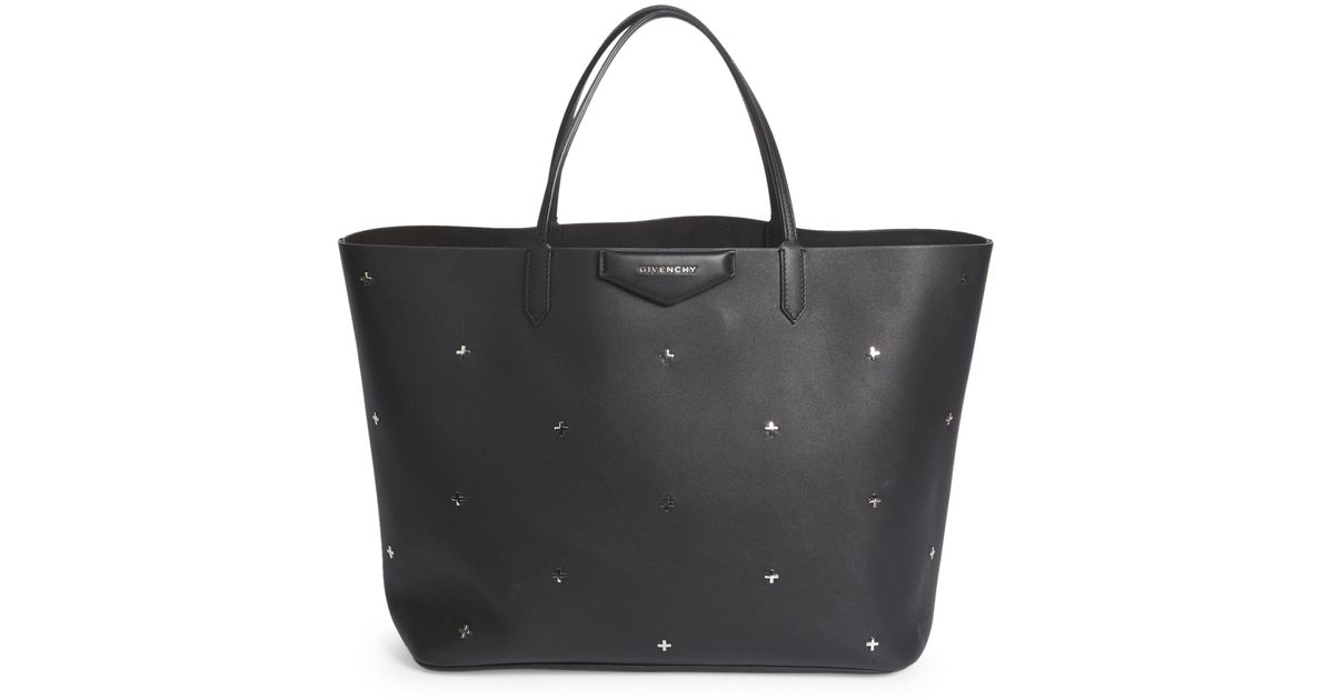 Lyst - Givenchy Antigona Large Metal Cross Leather Tote in Black c9af6149b1