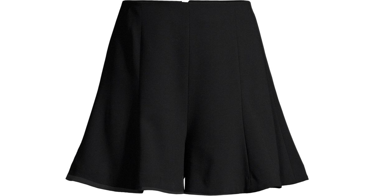 b5f2d55c95 Lyst - Alice + Olivia Women s Keira High-waist Flared Shorts - Black in  Black