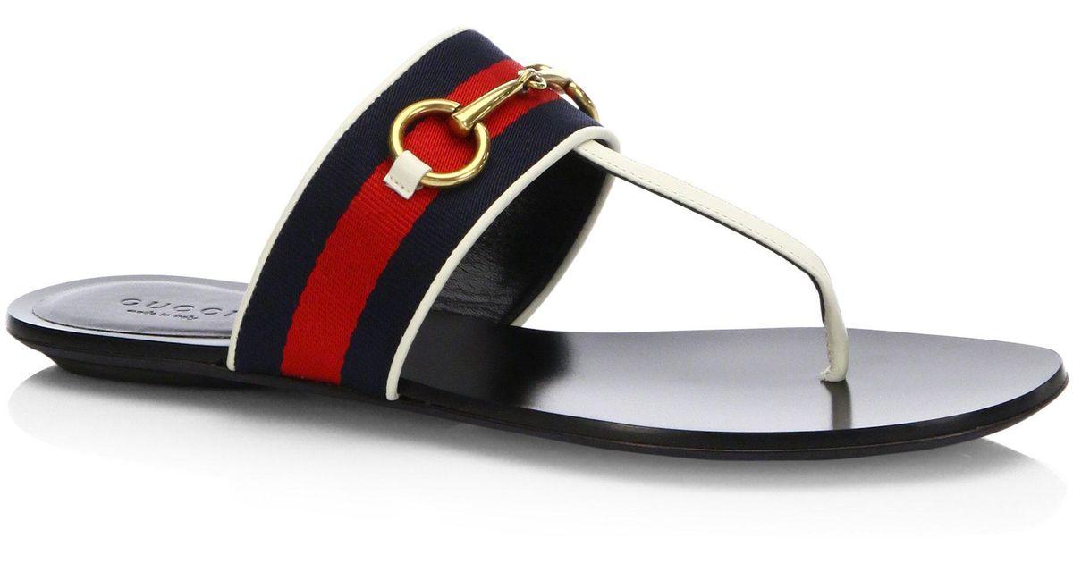 e0a686b57b9 Lyst - Gucci Querelle Web Thong Sandals