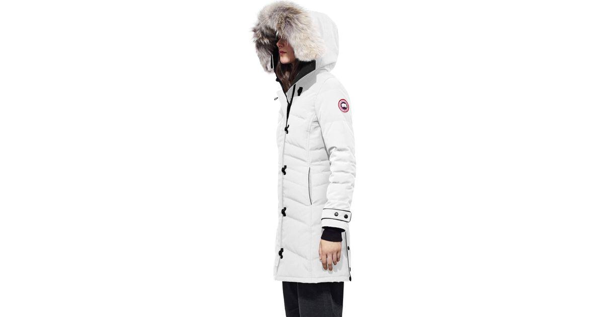 0e58d0490654 Canada Goose Arctic Tech Lorette Fur-trim Down Parka in White - Lyst