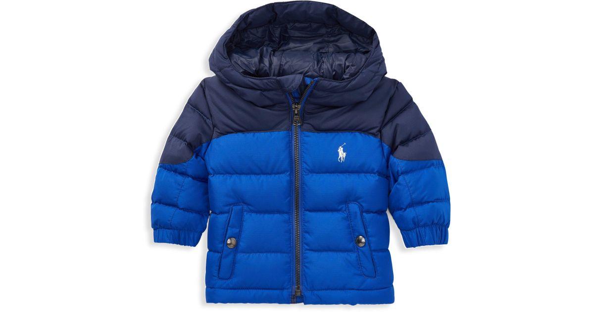 ee9fac198 Ralph Lauren Baby Boy's Ripstop Down Jacket in Blue for Men - Lyst