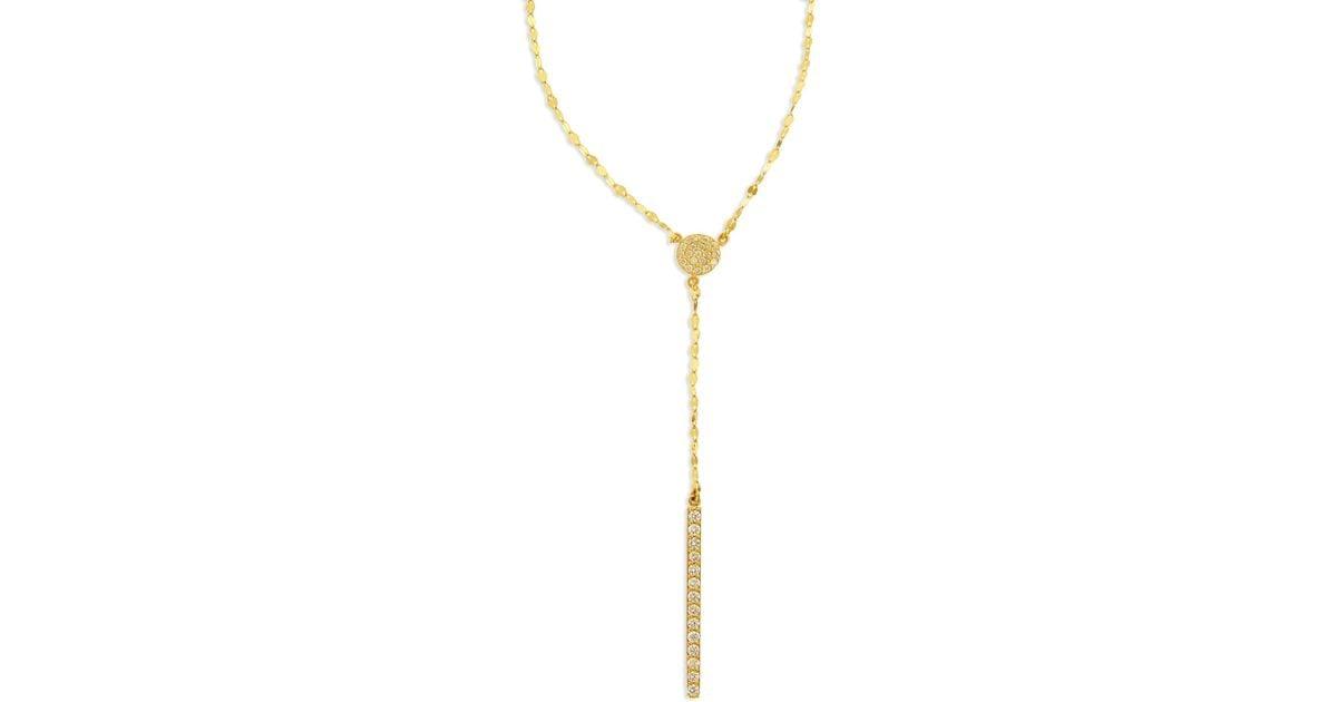 Lana Jewelry Mirage Diamond Lariat Necklace in 14K White Gold LzUyd