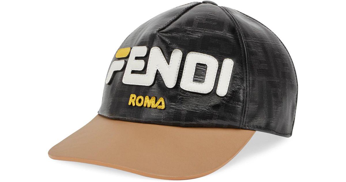 ebe510615f9ec Lyst - Fendi Mania Cap in Black for Men