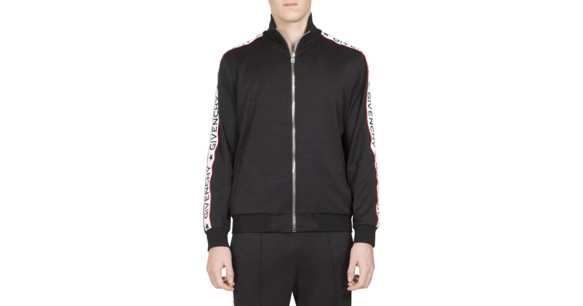e9b4d945 Givenchy Logo Tape Track Jacket in Black for Men - Lyst