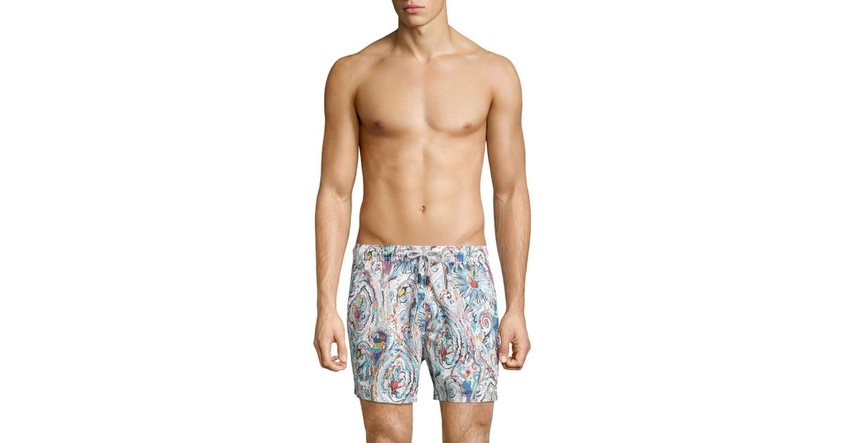 a4e399a983 Lyst - Etro Paisley Boardshorts in Blue for Men