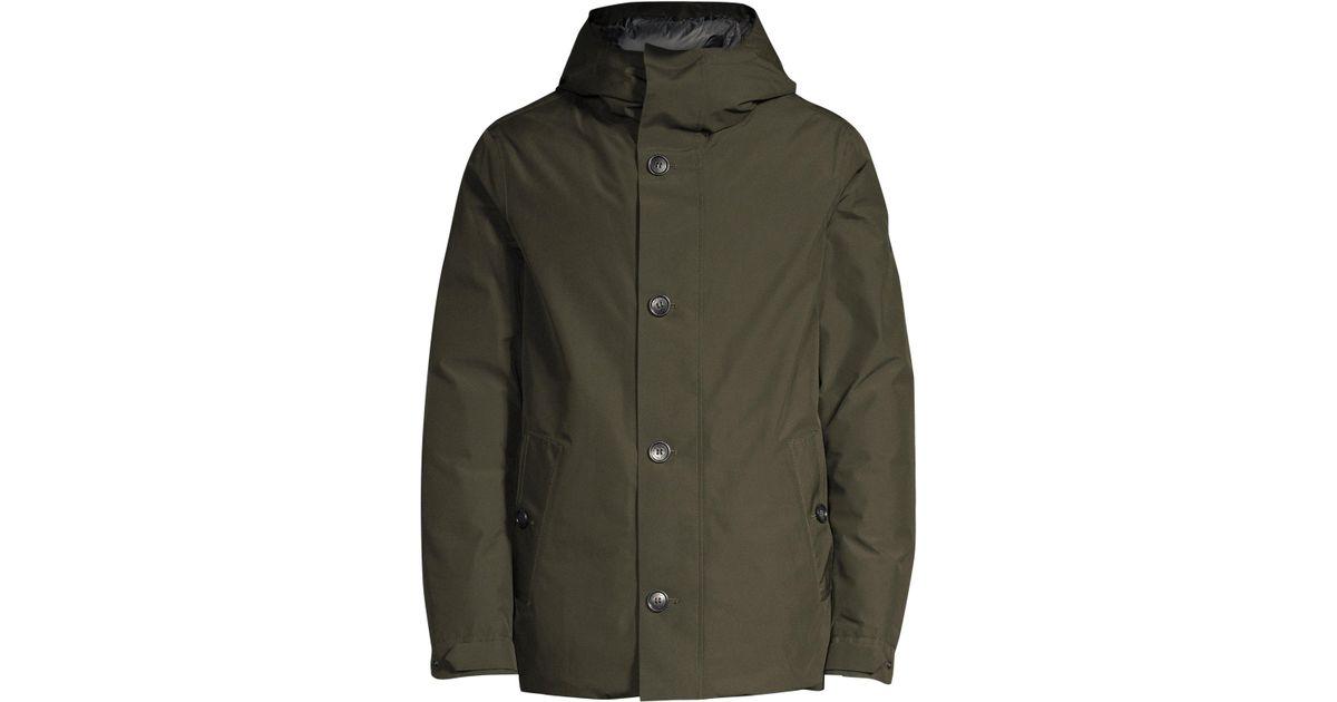a946dbcb9cb4 Lyst - Woolrich Gtx Alpine Duck Down   Feather Fill Jacket in Green for Men