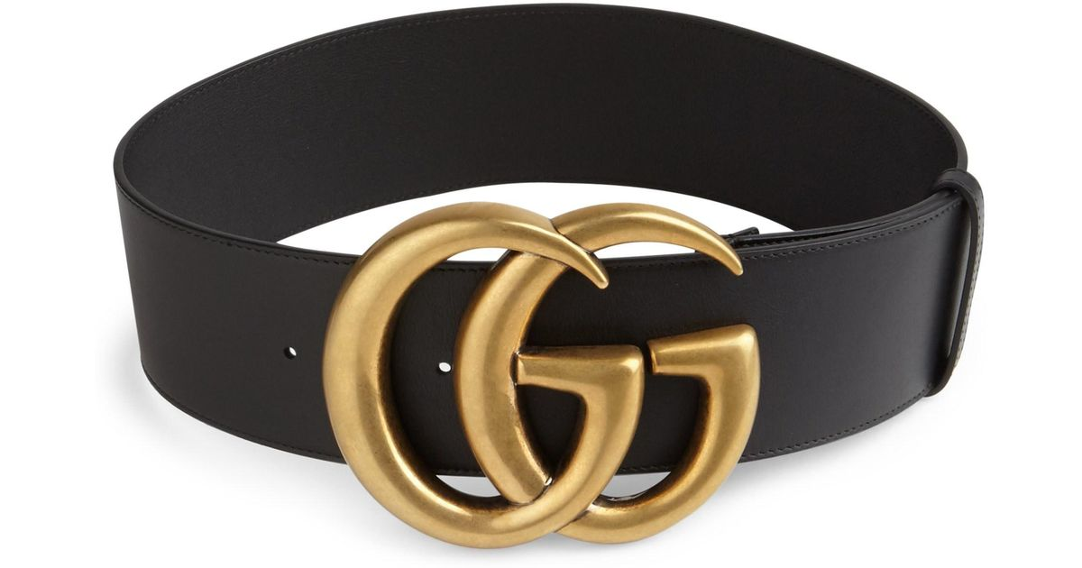 e444b5a6196 Lyst - Gucci Women s GG Buckle Leather Belt - Black - Size 85cm (size 6) in  Black