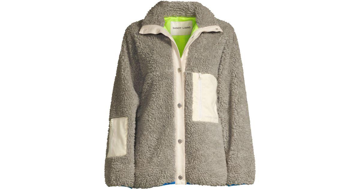 ea8bed93af6a Sandy Liang Ollie Fleece Jacket - Lyst