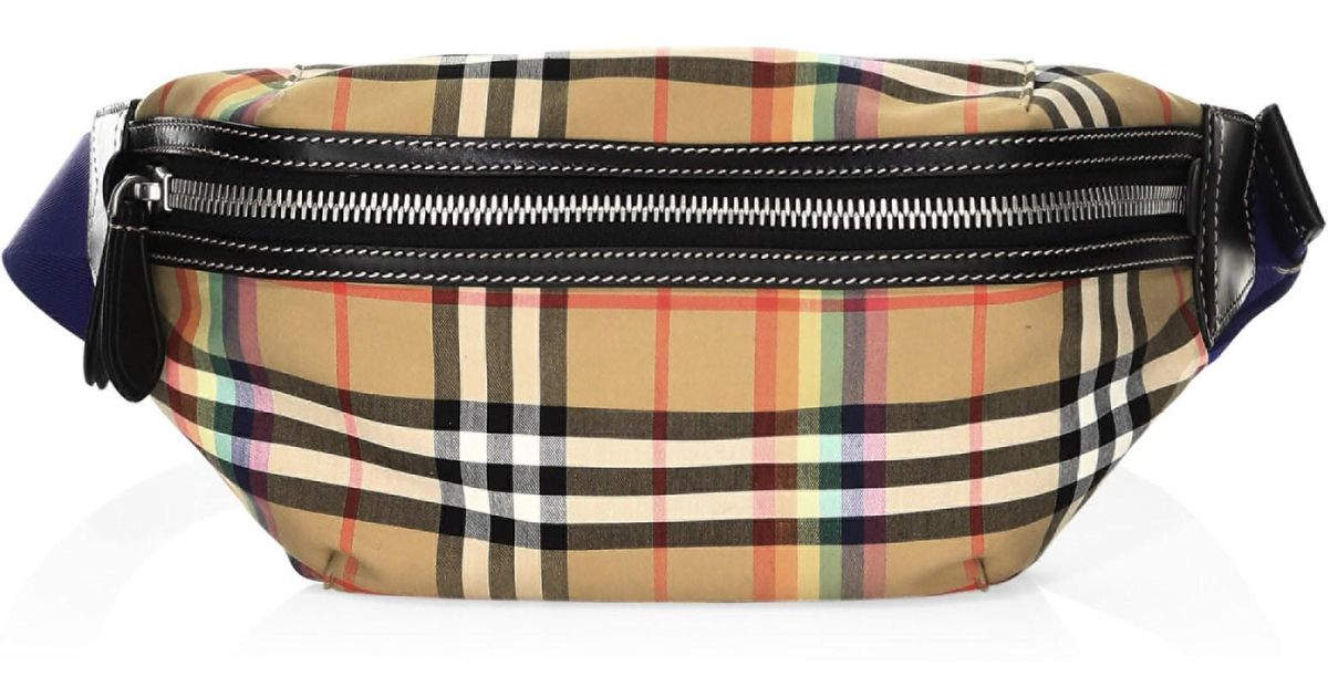 67b076999a3f Lyst - Burberry Rainbow Vintage Check Fanny Pack for Men