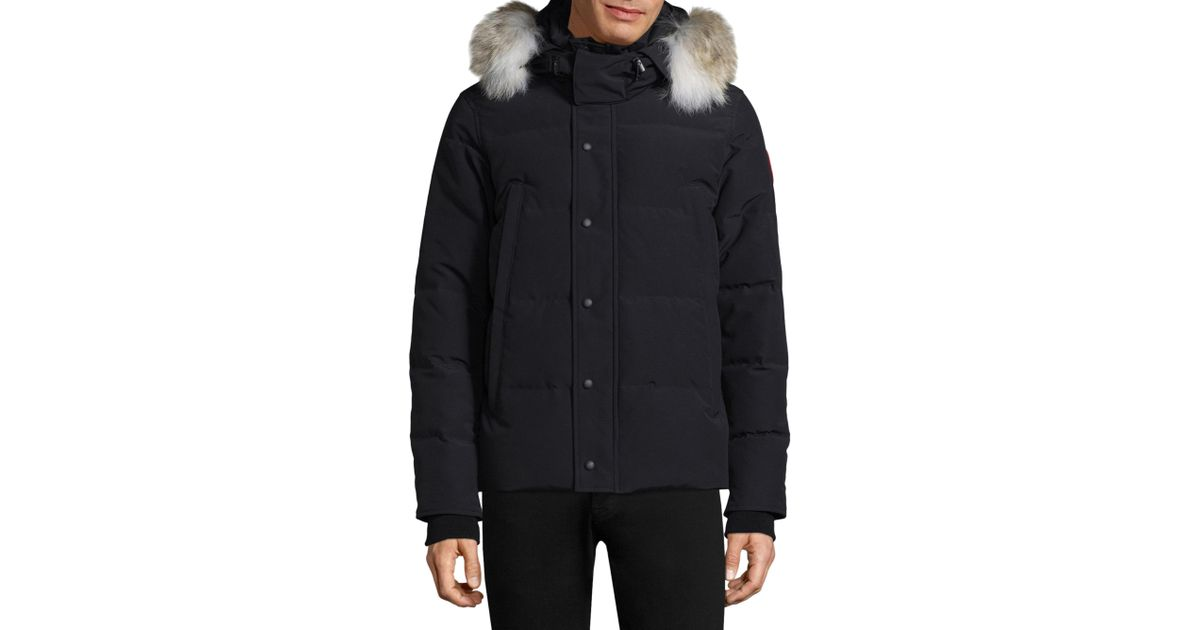 ... Lyst - Canada Goose Wyndham Fur-hood Down Parka Fusion Fit in Black for Men ...