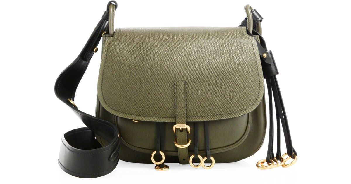 534b63c2b2a2 Prada Corsaire Leather Shoulder Bag in Green - Lyst