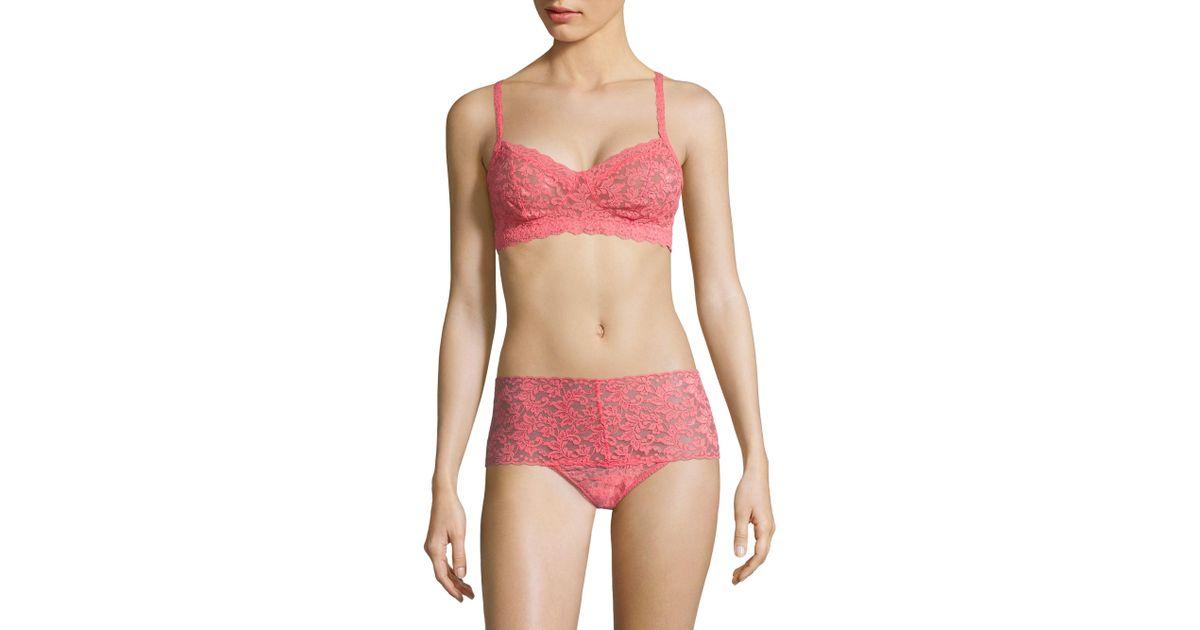 72d6f0242b Lyst - Hanky Panky Women s Retro Bralette - Bright Rose - Size Small in Pink
