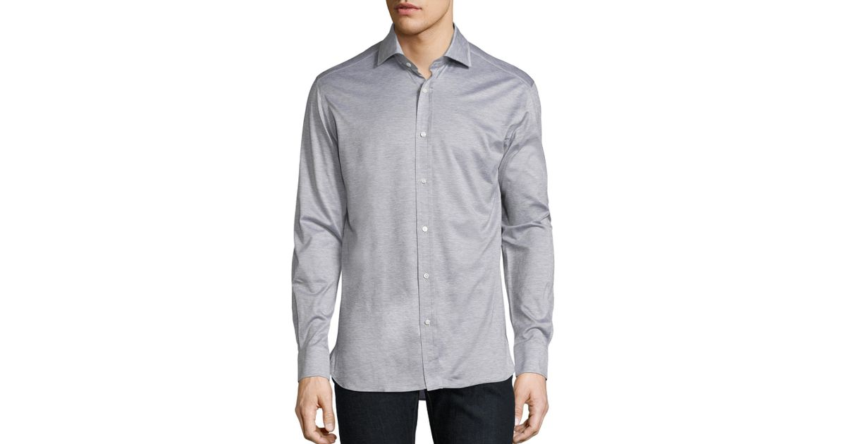 Lyst Ralph Lauren Purple Label Wool Casual Button Down