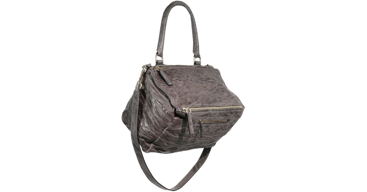 c9e413dd838 Lyst - Givenchy Pandora Medium Pepe Leather Shoulder Bag in Gray