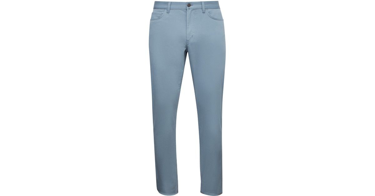 ecf24b79b03 Lyst - Theory Men's Hayden Rinsed Writer Stretch Cotton Trousers - Vapor - Size  38 in Blue for Men
