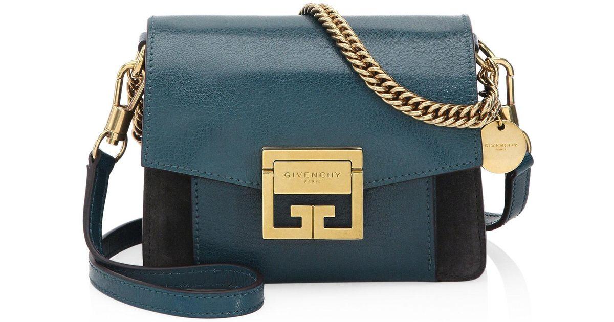 b22635168d9d Lyst - Givenchy Mini Gv3 Shoulder Bag in Blue