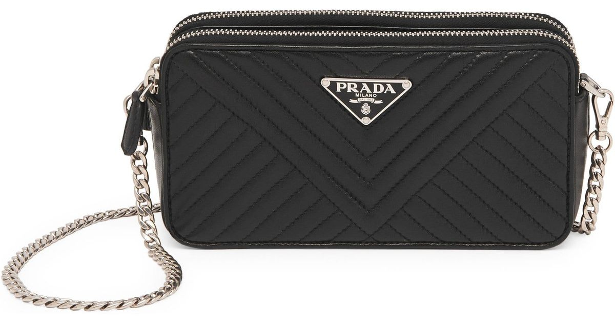 004b3415a6bee6 Lyst - Prada Women's Diagramme Mini Bag - Black in Black
