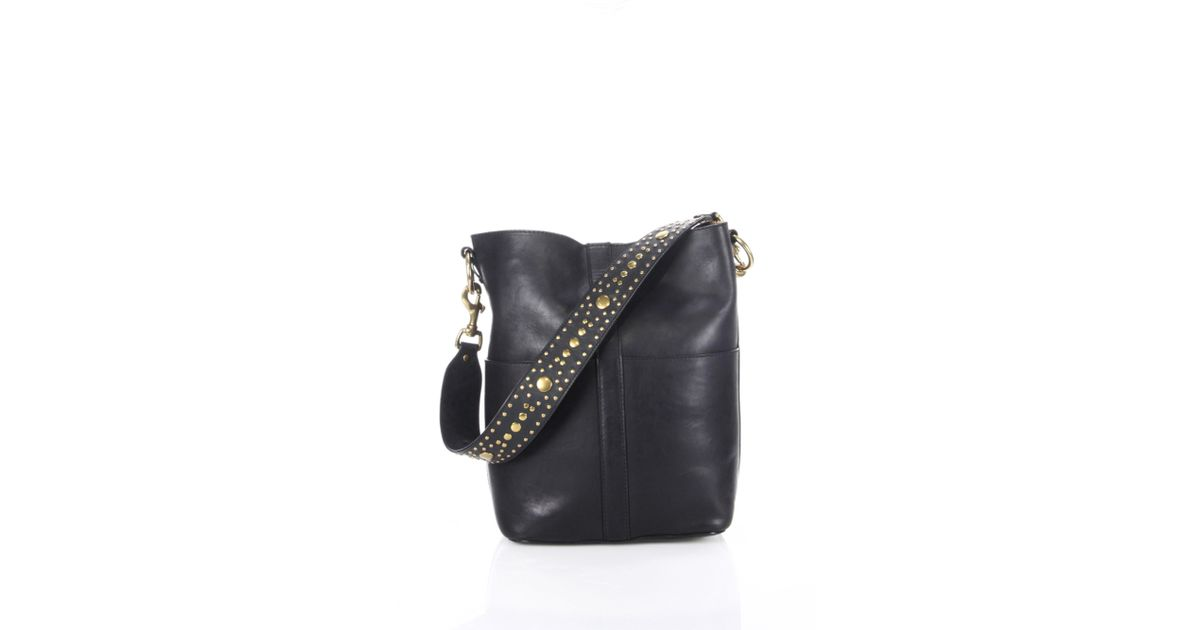 2b94deaef7fd Lyst - Frye Ilana Studded Leather Hobo Bag in Black