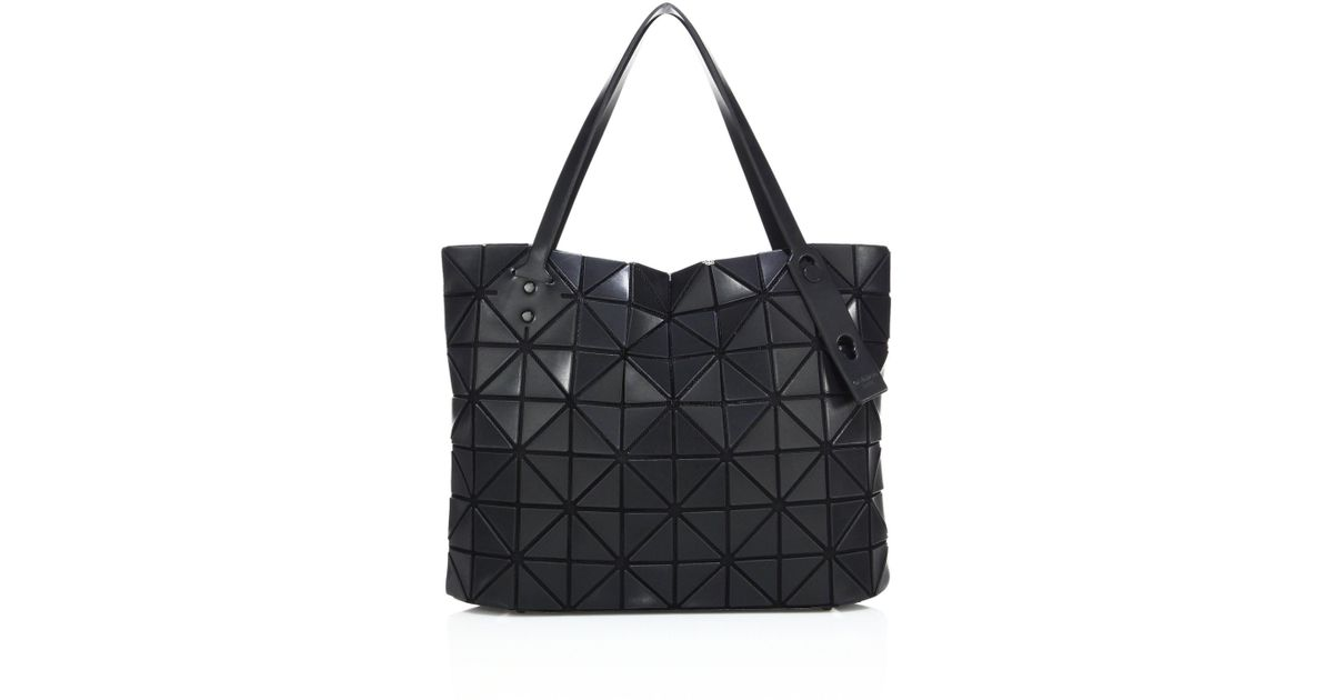 Lyst - Bao Bao Issey Miyake Women s Rock Matte Square Tote - Matte White in  Black 8f3580a56d4e1