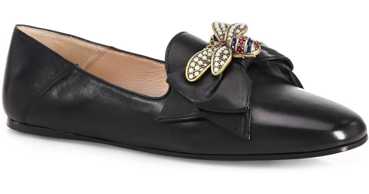 6Cq1xNBvbw Queen Margaret Bee Leather Flats