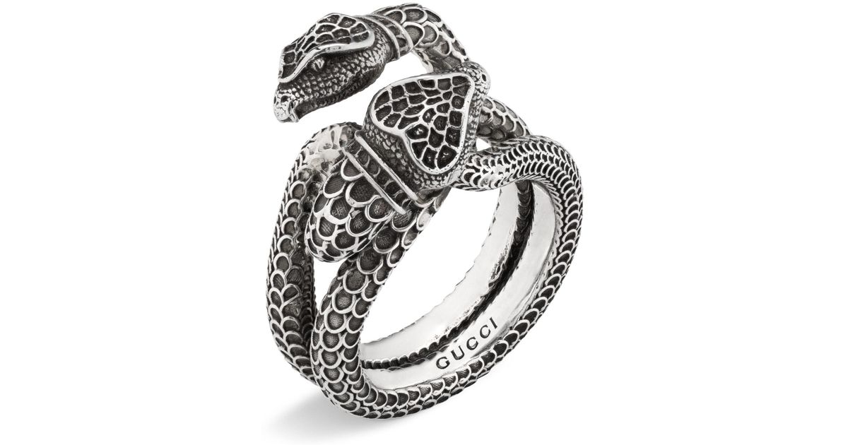 e13e30cf7 Gucci Snake Wrap Ring in Metallic - Lyst