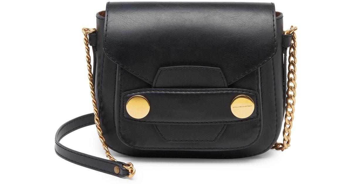 Stella McCartney Studded Faux-leather Shoulder Bag in Black - Lyst d09eec2190a29