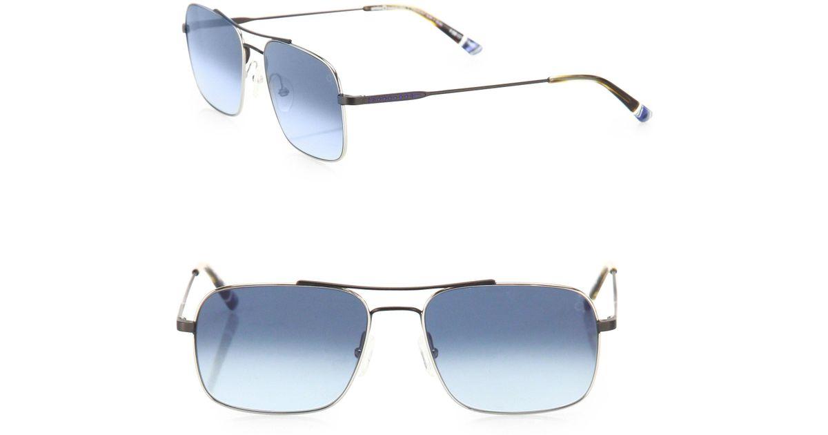cb8acb38ac4030 Etnia Barcelona Vintage Fremont Sun 56mm Rectangular Sunglasses in Metallic  for Men - Lyst