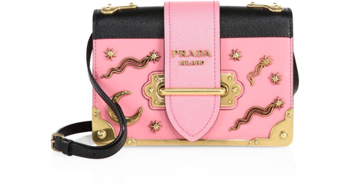 3a6e72287072 ... aliexpress prada city leather celestial cahier shoulder bag in pink  lyst 1acae 778f3