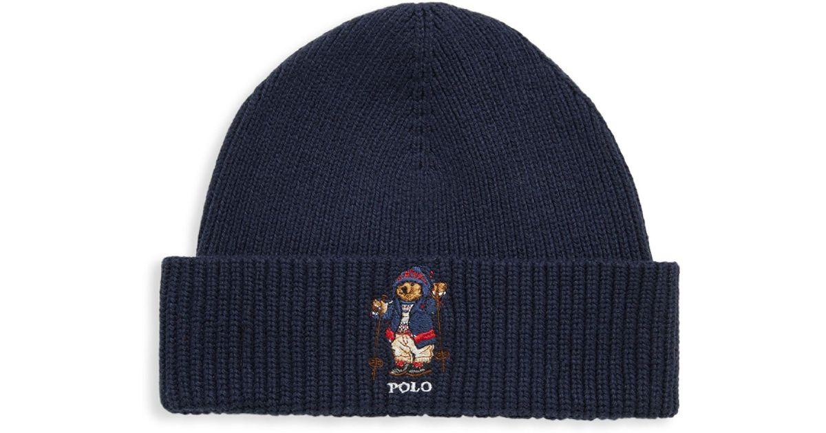 Lyst - Polo Ralph Lauren Apres Ski Bear Hat in Blue for Men e22aaf680c2