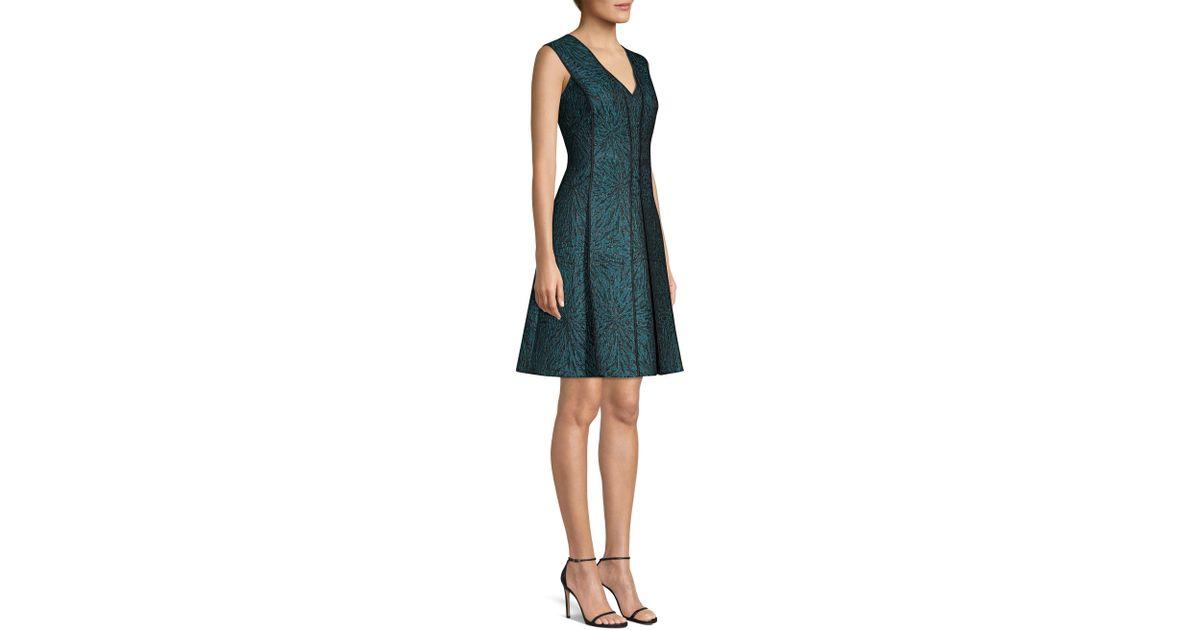 d4c667e40520 Elie Tahari Tameeka Jacquard Cocktail Dress in Blue - Lyst