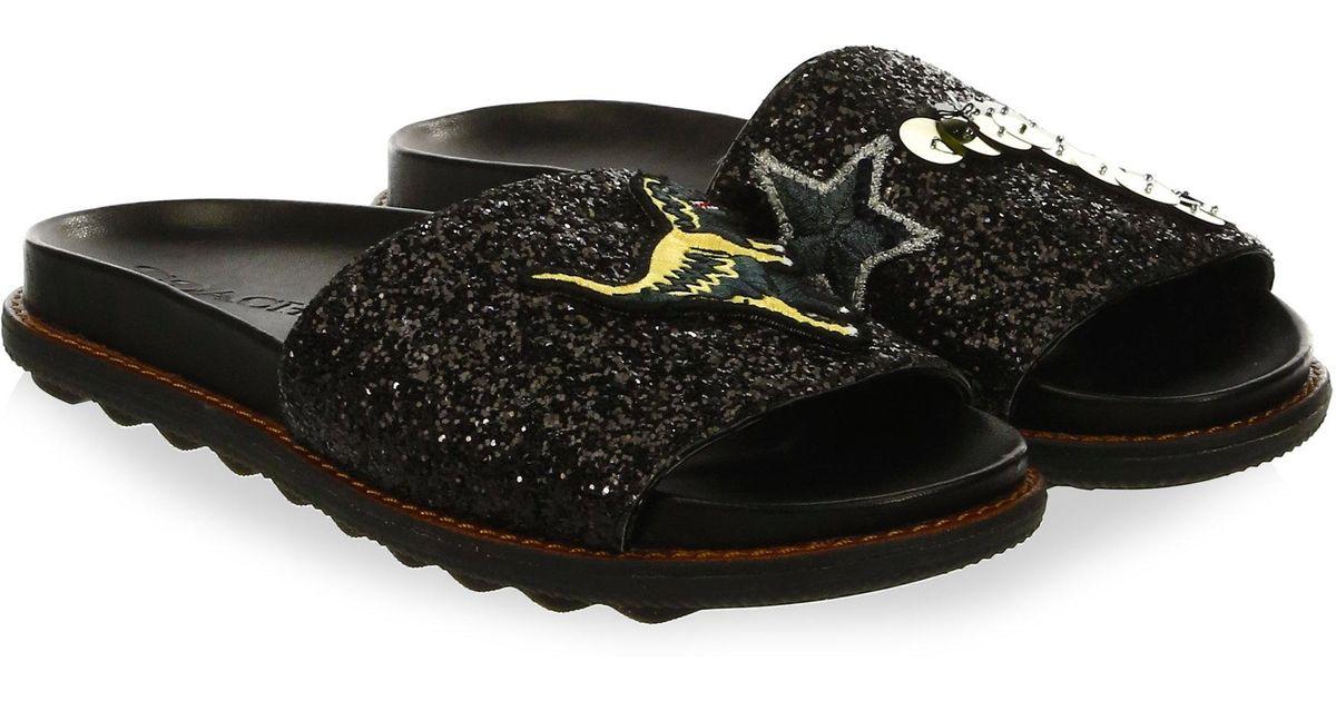 55402d2e61c Lyst - COACH Rexy Sport Slides in Black