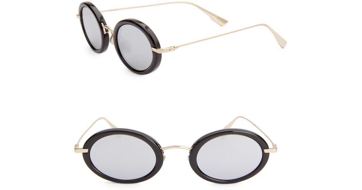 27baa827dc7f Dior Women s Hypnotic 2 46mm Oval Sunglasses - Black Gold in Metallic - Lyst