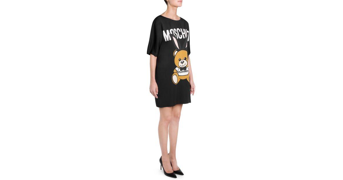93fbd3c803354 Moschino Teddy Bear Dress in Black - Lyst
