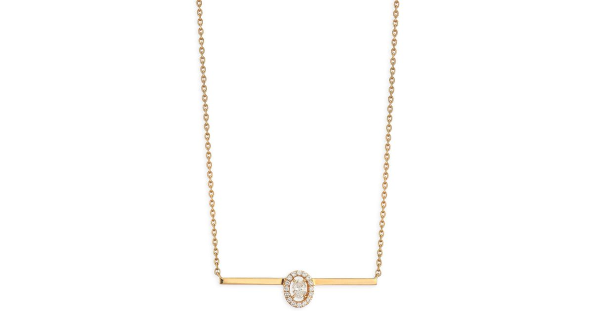 7ac9ba93dc0a1c Messika Women's Glam'azone Diamond & 18k Rose Gold Pendant Necklace - Pink  Gold in Metallic - Save 1% - Lyst