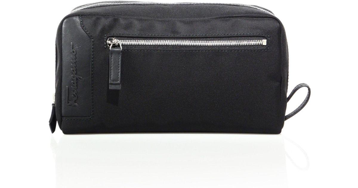 970c783319 Lyst - Ferragamo Nylon Dopp Kit in Black