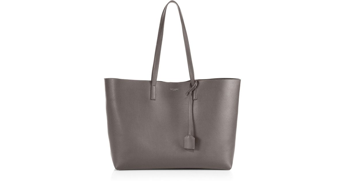 8410dfda147b Saint Laurent Large Leather Shopper Tote in Brown - Lyst