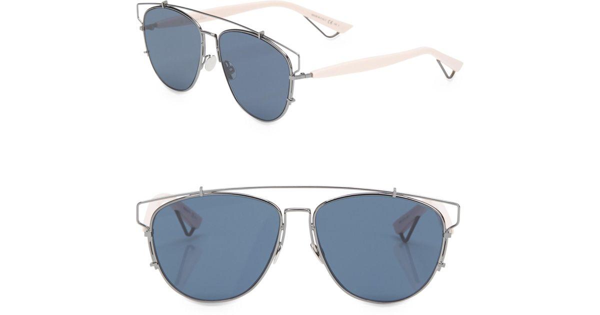 cbcf6fb172e Dior Women s Technologic 57mm Sunglasses in Blue - Lyst