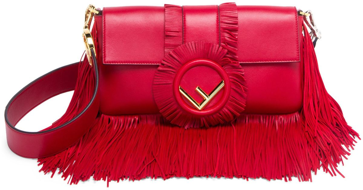 ... denmark lyst fendi baguette fringe leather shoulder bag in red 178df  df418 a89bbf52f9