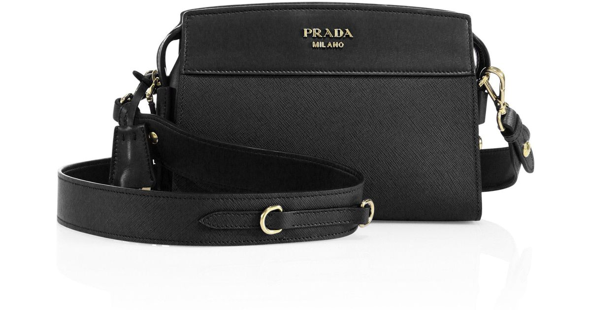 732074192949 Prada Esplanade Leather Cross-Body Bag in Black - Lyst
