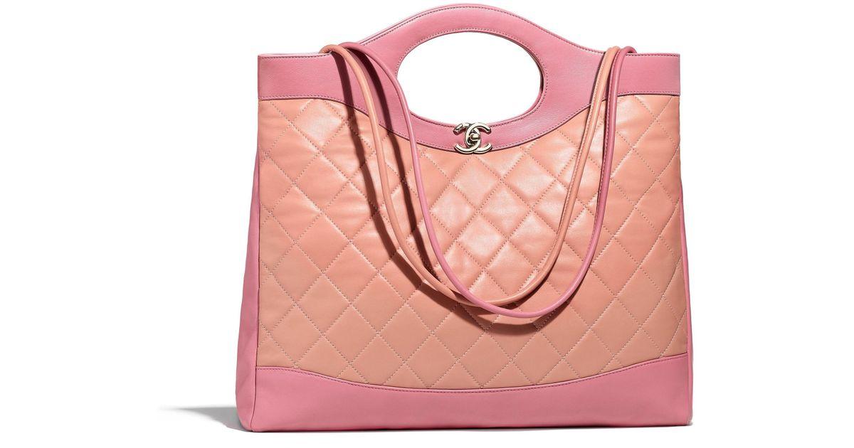 4fa2b1eccf8a Chanel 31 Large Shopping Bag in Pink - Lyst