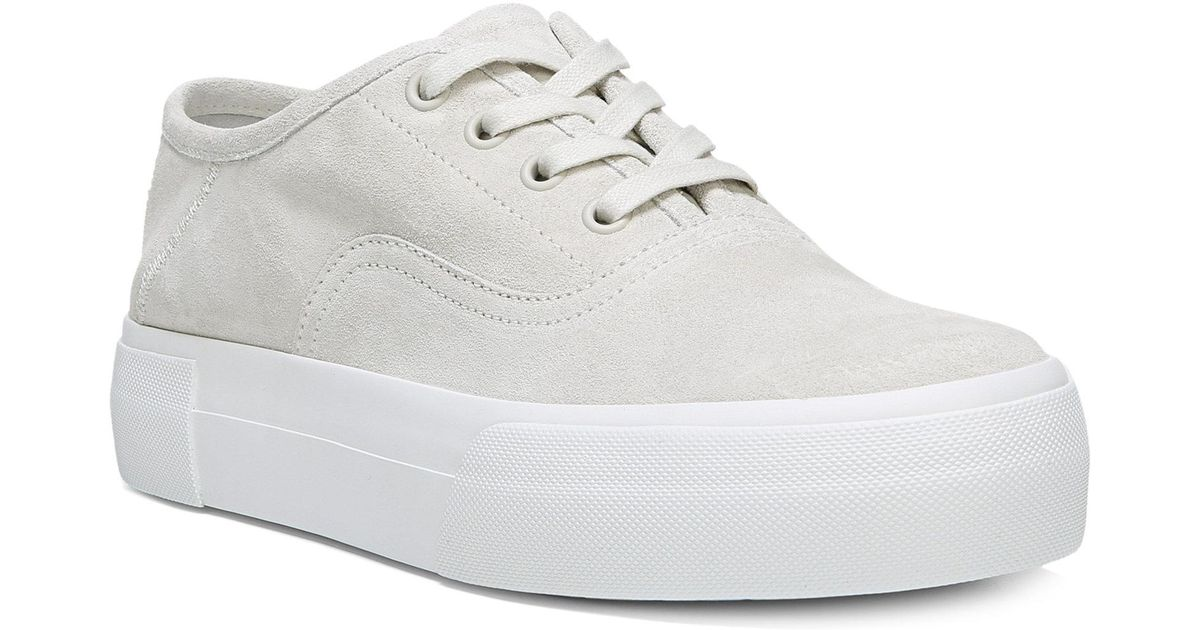 9cab782ce0d Lyst - Vince Copley Leather Platform Sneakers in White