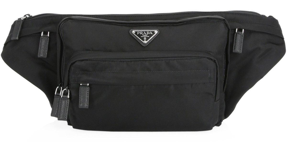 dcd9cc1dd27a Lyst - Prada Nylon Waist Bag in Black for Men