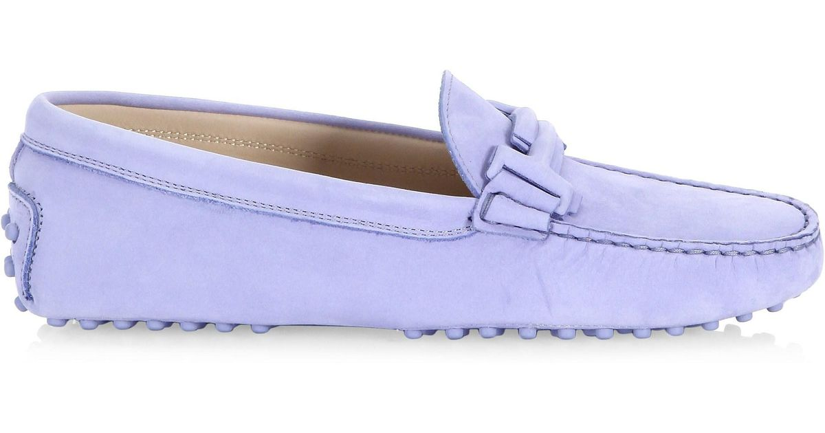 7ea752a68ad Lyst - Tod s Women s Gommini Maxi Doppia Suede Loafer - Light Blue - Size  40.5 (10.5) in Blue