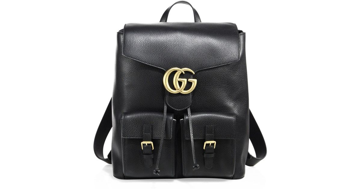 cf4d0df9b40 Lyst - Gucci Gg Marmont Backpack in Black for Men