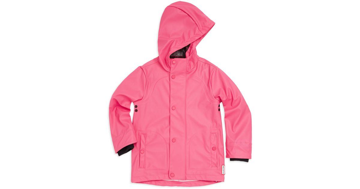 big selection of 2019 shop on sale Hunter Little Girl's Waterproof Raincoat - Bright Pink