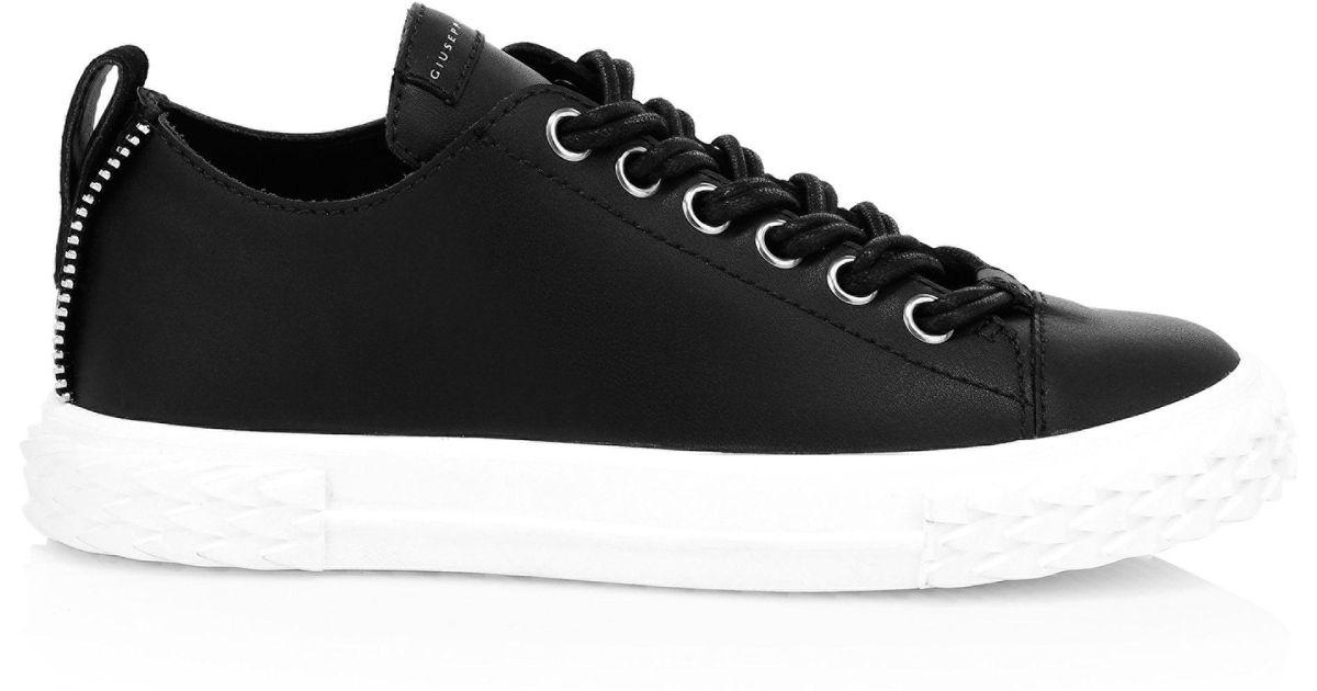 8ed66b3cbc3cf Giuseppe Zanotti Women's Blabber Leather Low-top Sneakers - Bianco in Black  - Lyst