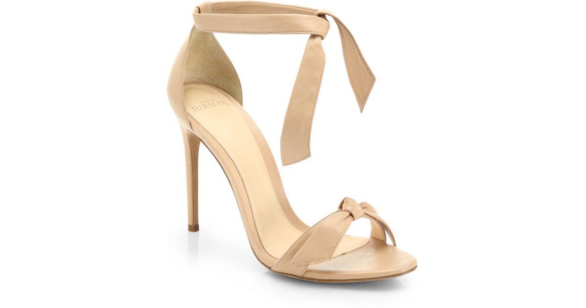 ALEXANDRE BIRMAN Clarita Metallic Leather Ankle-Tie Sandals dYxKaKX65A