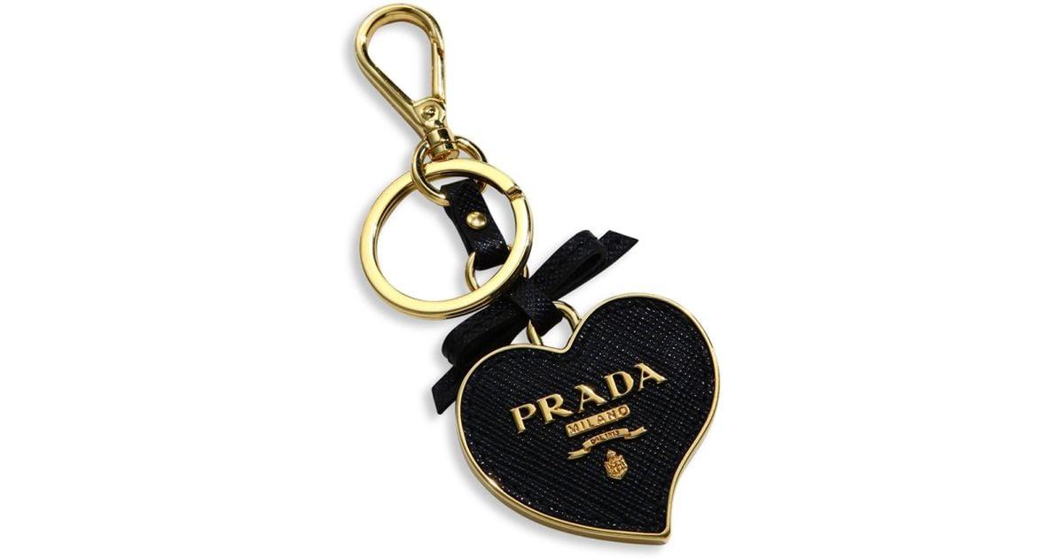 Saffiano heart keychain - Red Prada UY4bcsWHCW