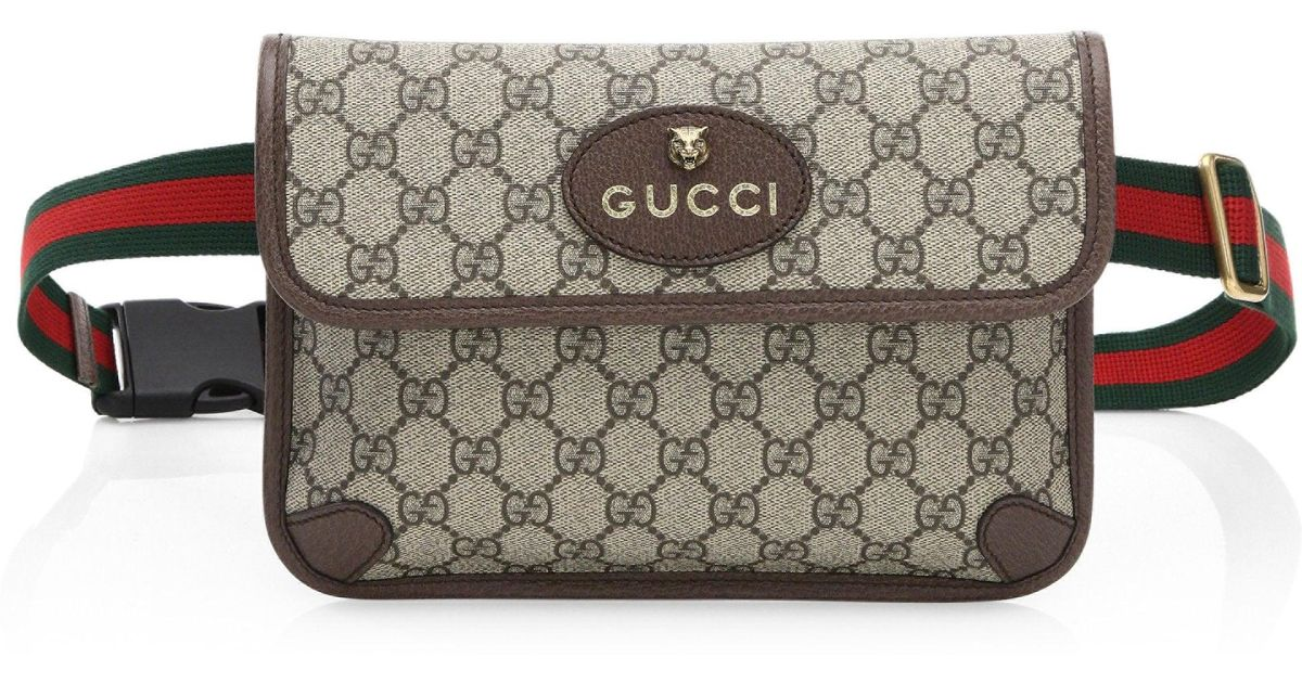 0895f8390 Gucci Neo Vintage Canvas Belt Bag in Natural - Lyst